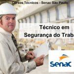 Curso Técnico de Segurança do Trabalho SENAC-SP